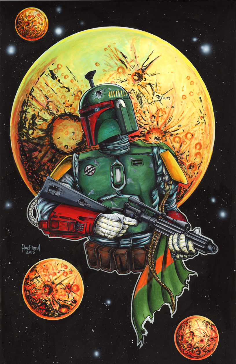 Boba Fett Pin Up by AHochrein2010