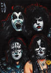 KISS 1974 SKETCH CARD ACEO