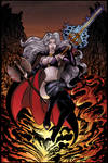 LADY DEATH PIN UP COLOR