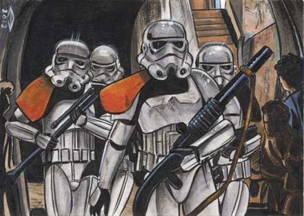 STORMTROOPERS SKETCH CARD by AHochrein2010