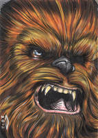 CHEWBACCA 1 SKETCH CARD by AHochrein2010