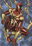 IRON SPIDER MAN SKETCH CARD 2012A