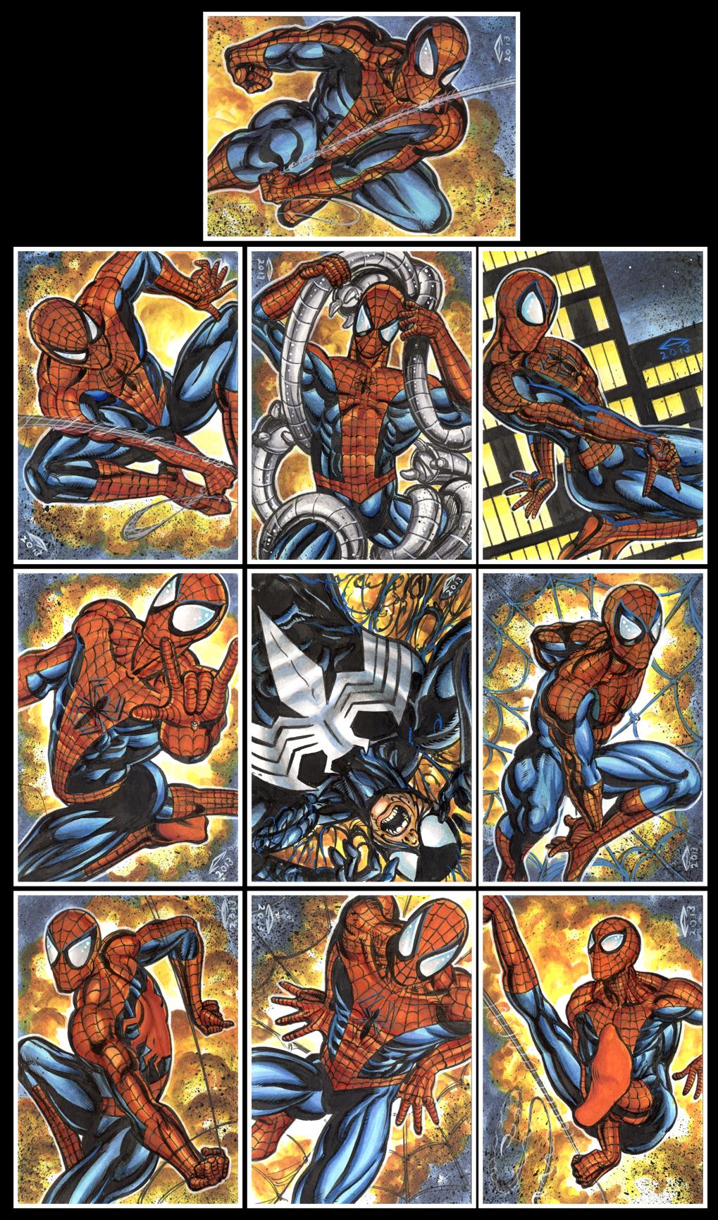 SPIDER MAN SKETCH CARDS by AHochrein2010