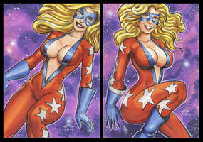 FEMFORCE MS VICTORY PERSONAL SKETCH CARDS by AHochrein2010