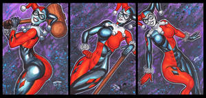 CLASSIC HARLEY QUINN PERSONAL SKETCH CARDS