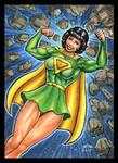 LOIS LANE AS SUPERWOMAN SKETCH CARD