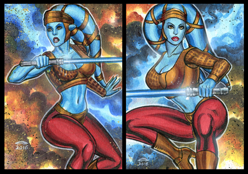 AAYLA SECURA PERSONAL SKETCH CARDS by AHochrein2010