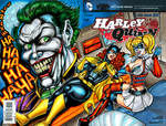 HARLEY QUINN #0 SKETCH COVER COMMISSION APRIL 2016 by AHochrein2010
