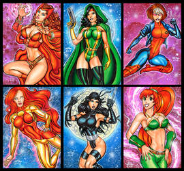 MARVEL BABES SKETCH CARDS 10-9-16 by AHochrein2010