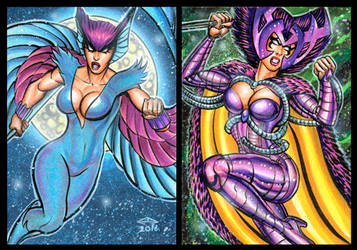 DEATHBIRD PERSONAL SKETCH CARDS OCTOBER 2016 by AHochrein2010