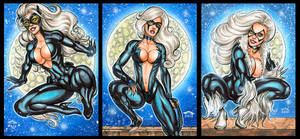 BLACK CAT PERSONAL SKETCH CARDS DECEMBER 2016 by AHochrein2010