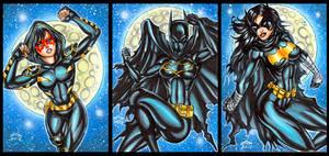 ORPHAN, BATGIRL AND BLACK BAT SKETCH CARDS
