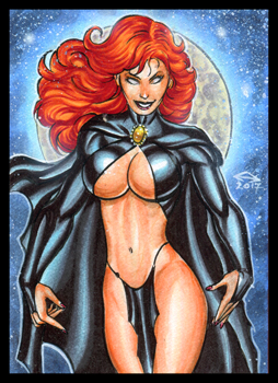GOBLIN QUEEN PERSONAL SKETCH CARD by AHochrein2010