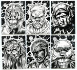 STAR WARS INK SKETCH CARD HEADSHOTS 1_2019 A by AHochrein2010