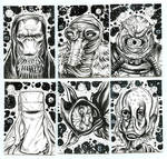 STAR WARS INK SKETCH CARD HEADSHOTS 1_2019 B by AHochrein2010