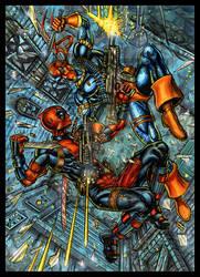 DEATHSTROKE V. DEADPOOL ART CARD