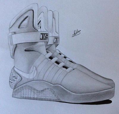 Nike Shoes Drawing By Artbydeshaun ...