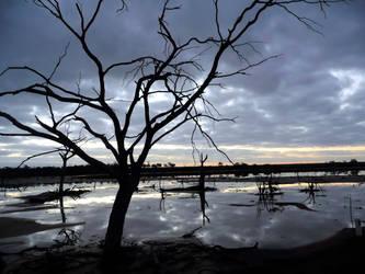 Silhouette on the Lake by Antmuzik77