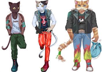 OPEN ADOPTABLES:  Catsday Catfist by Kamikatamari