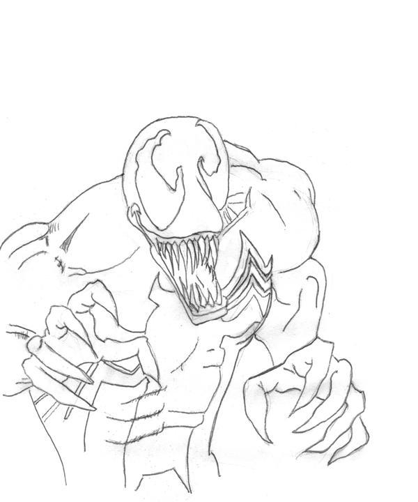 How to draw white venom