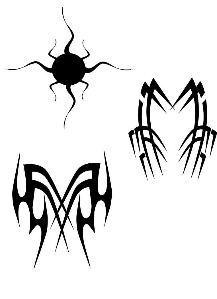 Inkscape tribal tattoo sheet 1 by humanwurm on deviantart for Tribal tattoo shops near me