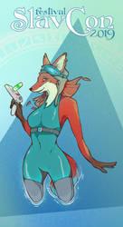 SlavCon 2019 fox poster by DandyHerulokion