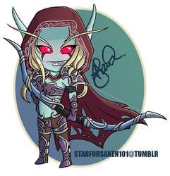 Lady Sylvanas -- chibi by Starforsaken101