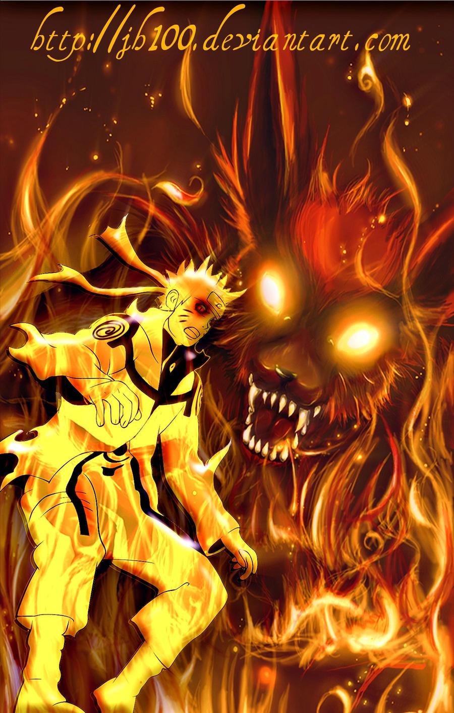 Naruto Bijuu Mode And kyuubi by jh100 on DeviantArt