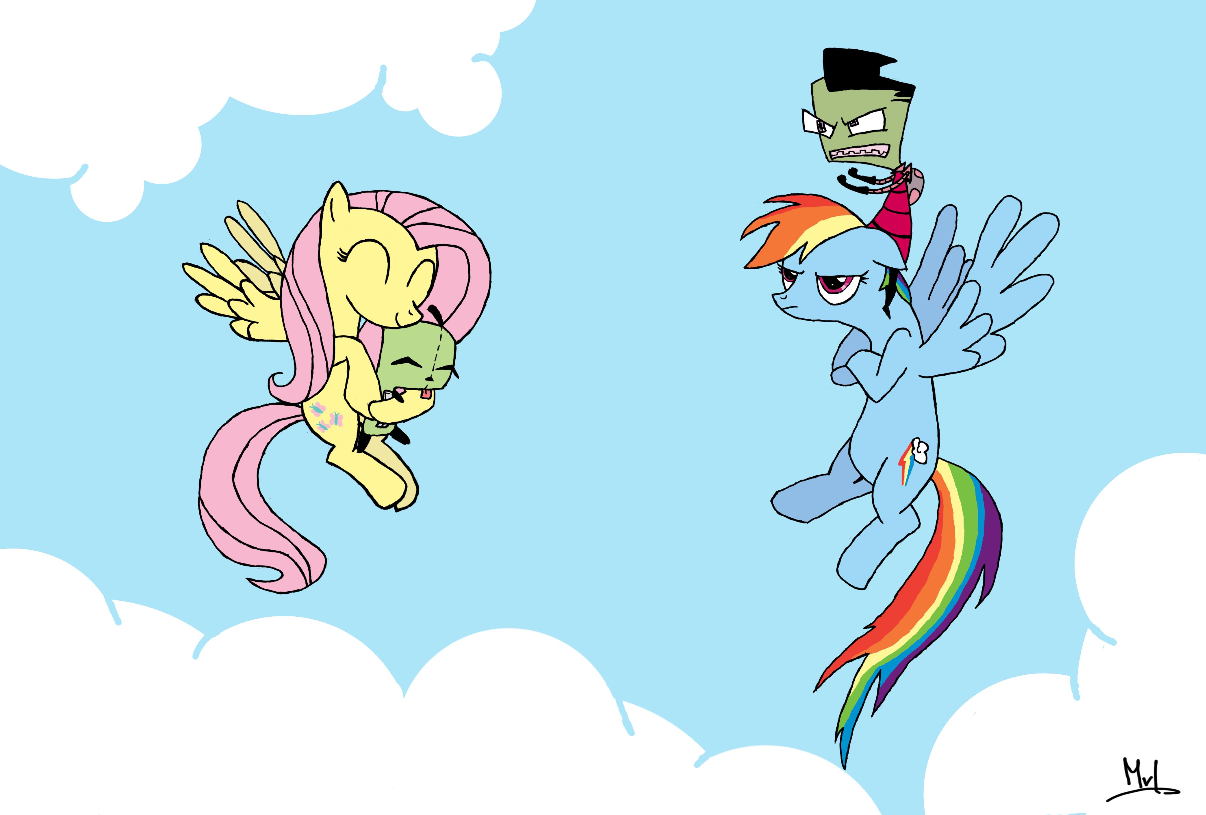 My Little Pony + Invader Zim Crossover by Mojo-vL