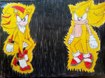 Super Shadow and Sonic by TheOneAndOnlyCactus