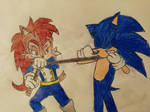 Alicia vs Sonic by TheOneAndOnlyCactus