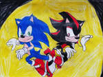 Sonic and Shadow  by TheOneAndOnlyCactus