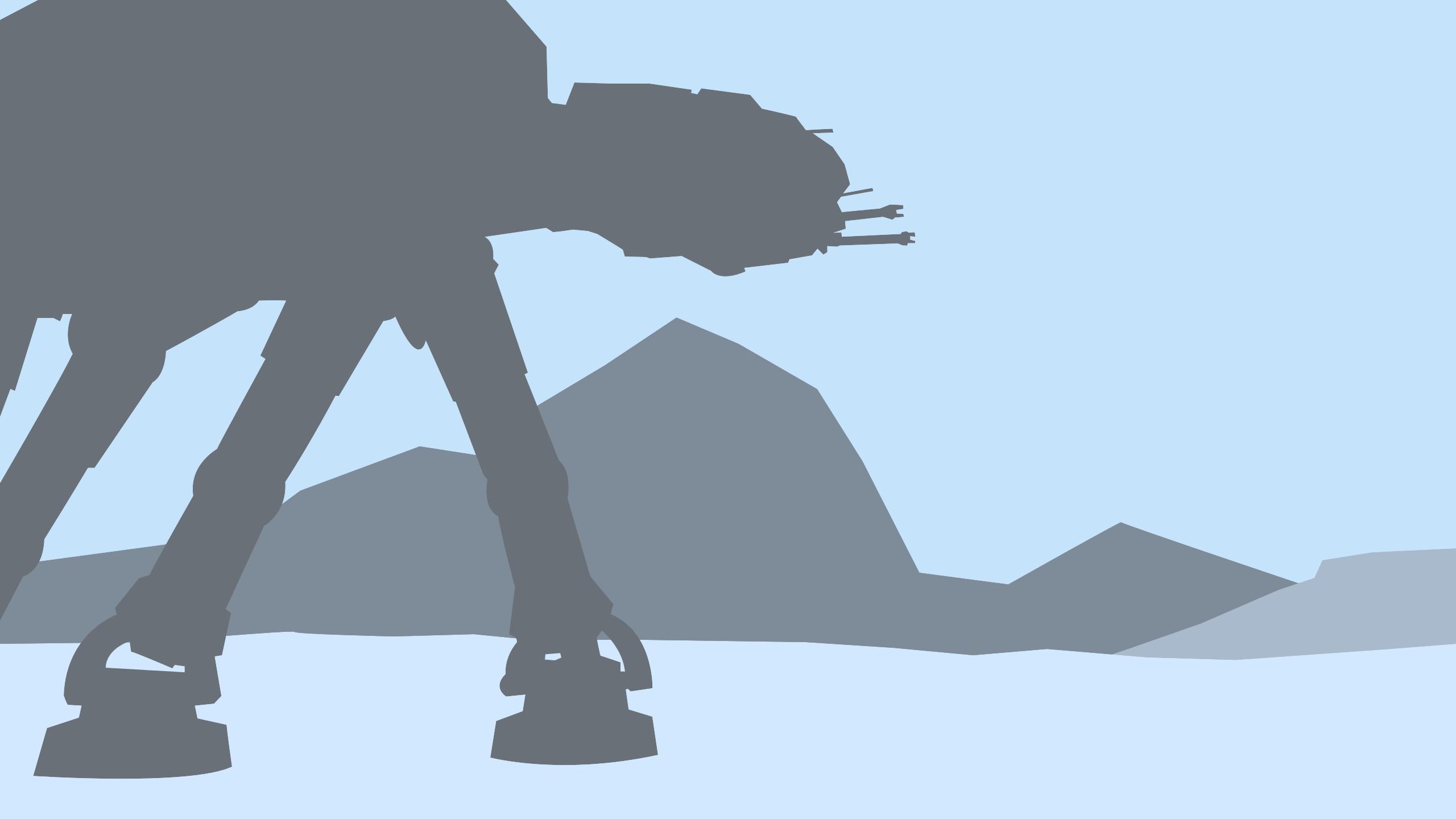 Minimal Battle Of Hoth Wallpaper By Cheetashock On Deviantart
