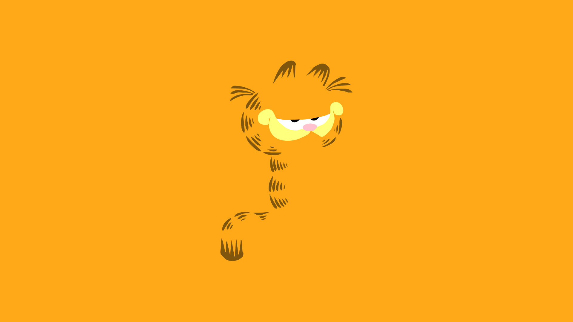 Minimal garfield wallpaper by cheetashock on deviantart for Deviantart minimal wallpaper