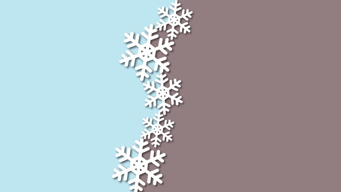 Minimal Snowflake Wallpaper By Cheetashock