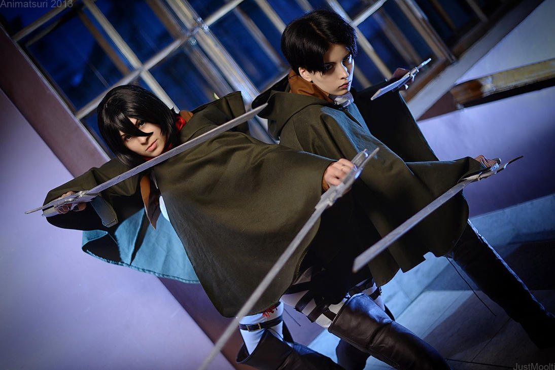 Mikasa and Rivaille - Shingeki no Kyojin by GarnetTilAlexandros