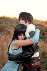 Squall and Rinoa embrace by GarnetTilAlexandros