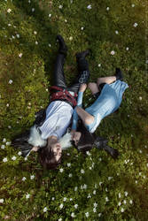 Squall and Rinoa in the meadow by GarnetTilAlexandros