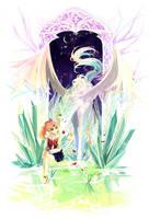 Helios and chibiusa by nako-75