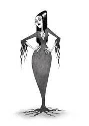 Morticia Addams by Kegg