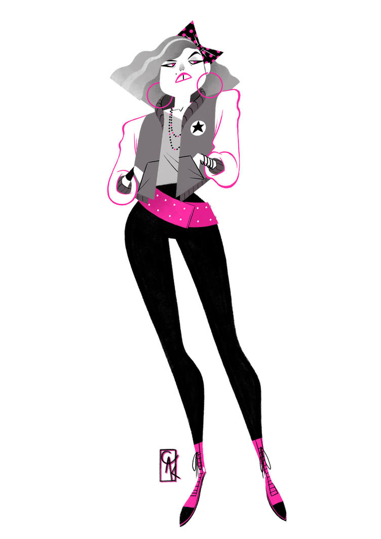 80's chick by Kegg