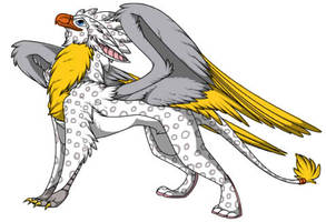 Snow Leopard Gryphon  by pokemon4ever45
