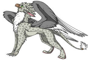 Grey Leopard Gryphon by pokemon4ever45