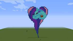 Cloud Wishes Pixel Art - Minecraft