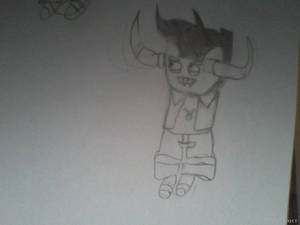 tavros in black and white