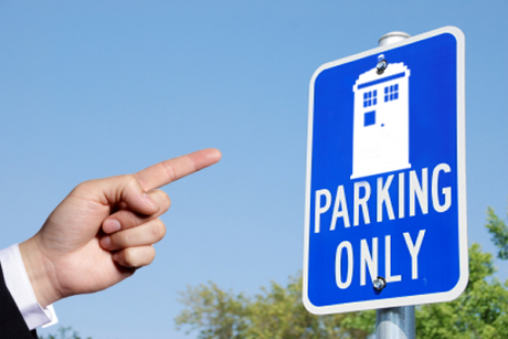 Parking only for a TARDIS by Ratmanxx