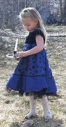 Blue Dress Lexi 2 by Falln-Stock