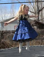 Blue Dress Lexi 44 by Falln-Stock