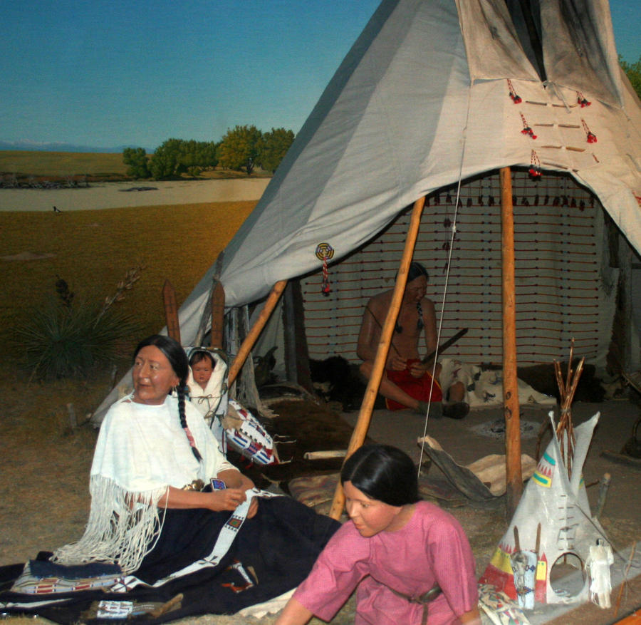 Photo Of Denver Museum Of Nature Science Entry: Denver Museum Native American Display 407 By Falln-Stock