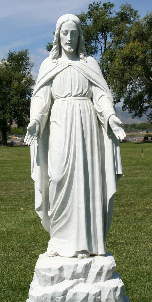 Mount Olivet Cemetery Jesus 84 by Falln-Stock